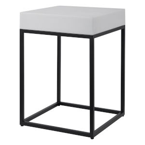 Gambia Aged Black Marble Accent Table