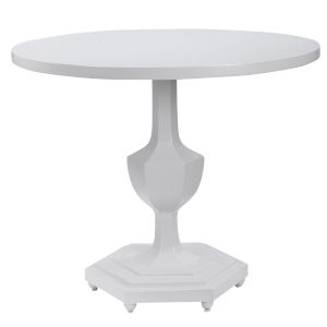 Kabarda Gloss White End Table
