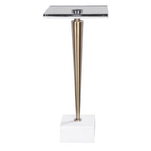 Campeiro Brushed Brass End Table