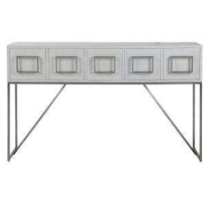 Abaya Brushed Nickel Console Table