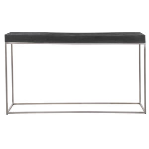 Jase Black 54-Inch Concrete Console Table