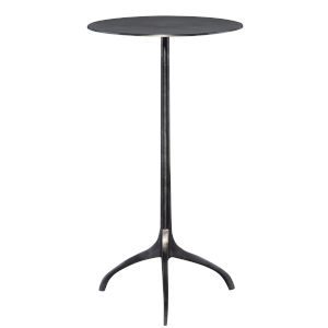 Beacon Black 14-Inch Round Accent Table