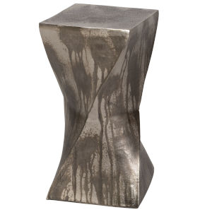 Euphrates Tarnished Silver End Table