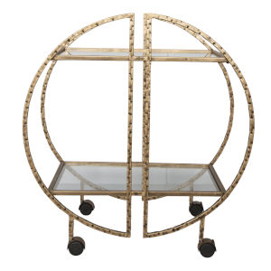 Zelina Brass Bar Cart
