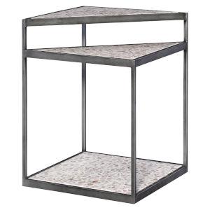 Terra Gunmetal Steel Accent Table