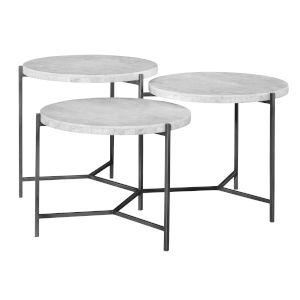 Contarini Gunmetal Tiered Coffee Table