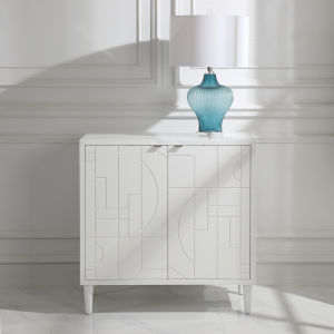 Stockholm White Two Door Cabinet