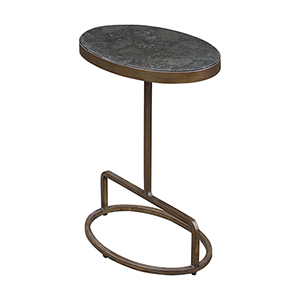 Jessenia Gold and Gray Accent Table