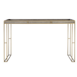 Cardew Charcoal Gray Console Table