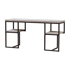 Leith Bronze and Woodtone Desk