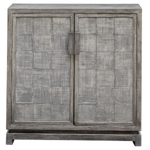 Hamadi Distressed Gray 34-Inch Two Door Cabinet