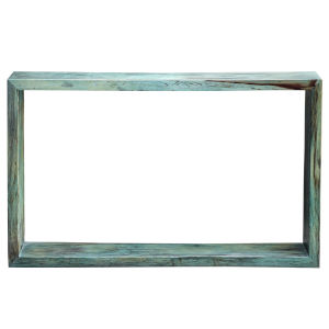 Teo Caribbean Blue and Green Console Table