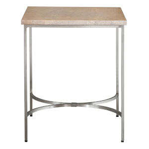 Drummond Brushed Nickel Side Table