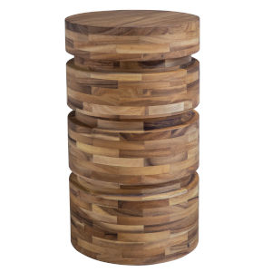 Boone Solid Acacia Wood End Table