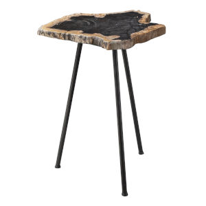 Mircea Aged Black End Table