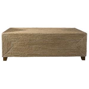 Rora Walnut 48-Inch Woven Coffee Table