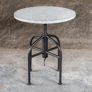 Apsel White and Gray Accent Table