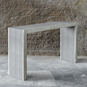 Aerina Gray Console Table