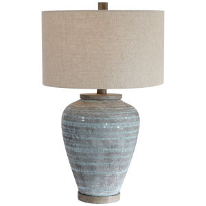 Pelia Aqua Blue Table Lamp