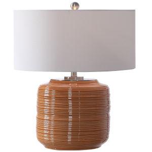 Solene Brushed Nickel and Orange Table Lamp