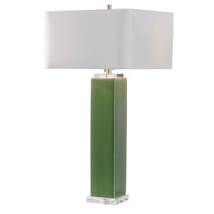 Aneeza Tropical Green 2-Light Table Lamp