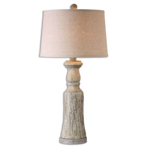 Cloverly Gray and Ivory One-Light Table Lamp, Set of 2