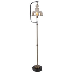 Elieser Antique Brushed Brass Floor Lamp
