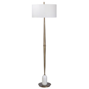 Minette Antique Brass Floor Lamp