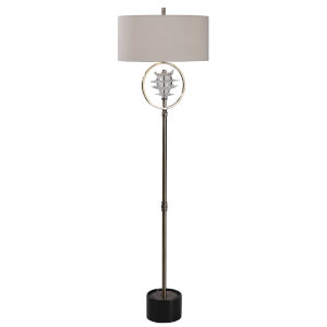 Pitaya Antique Brass Floor Lamp