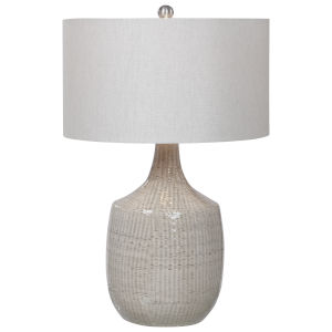 Felipe Brushed Nickel and Gray Table Lamp