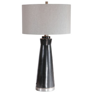 Arlan Dark Charcoal 1-Light Table Lamp