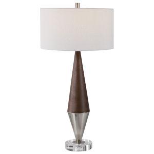 Haldan Brushed Nickel Table Lamp