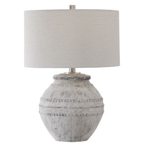 Montsant Ivory and Brushed Nickel Table Lamp