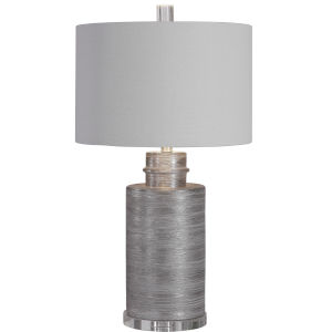 Anitra Metallic Silver 1-Light Table Lamp