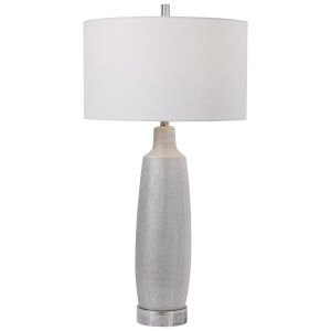 Kathleen Metallic Silver and Brushed Nickel Table Lamp