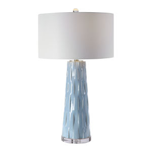 Brienne Light Blue and Brushed Nickel Table Lamp