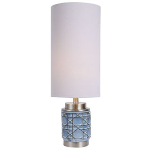 Morrisey Light Blue and Rust Brown One-Light Table Lamp