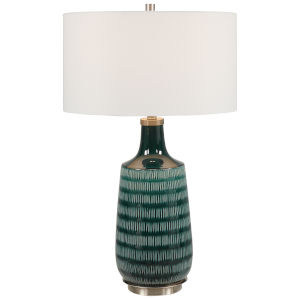 Scouts Teal One-Light Table Lamp