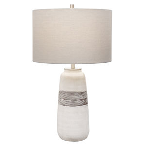 Comanche Off-White One-Light Crackle Table Lamp