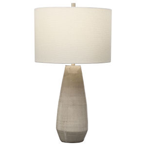 Volterra Taupe and Gray One-Light Table Lamp
