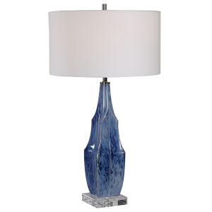Everard Indigo Blue One-Light Table Lamp