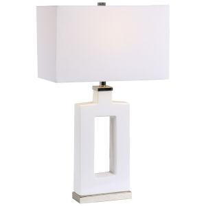 Entry White One-Light Table Lamp