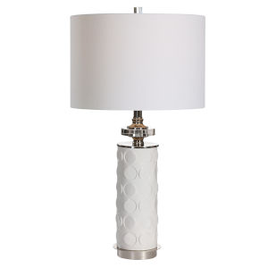 Calia White One-Light Table Lamp
