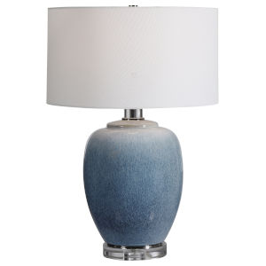 Blue Waters Cobalt and Aqua One-Light Table Lamp