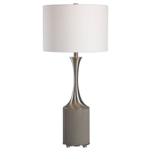Pitman Gray One-Light Table Lamp