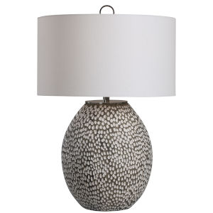 Cyprien Gray and White One-Light Table Lamp