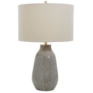 Monacan Gray One-Light Textured Table Lamp