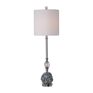 Elody Blue and Nickel One-Light Table Lamp