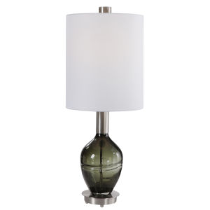 Aderia Sage Green and Brushed Nickel Table Lamp