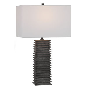 Sanderson Metallic Charcoal 1-Light Table Lamp